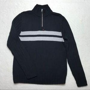 Vintage Polo Jeans Co. Navy 1/4 Zip Sweater M RL